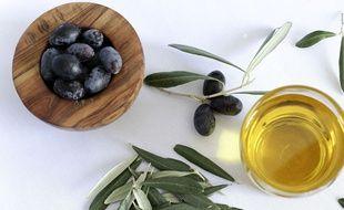 Huile d'olive, illustration.