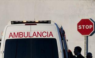 Un ambulance à Malaga (image d'illustration).