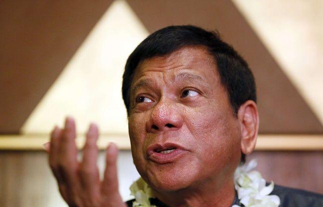 Le candidat à l'élection présidentielle philippine, Rodrigo Duterte, le 10 mars 2016 à Manille.