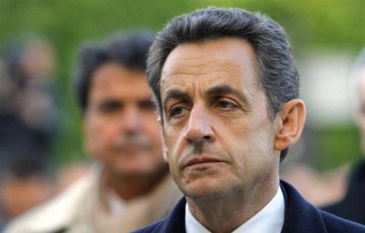 Nicolas Sarkozy, le 24 avril 2012, à Paris, lors de la cérémonie du 97e anniversaire du génocide arménien. – REUTERS/POOL New