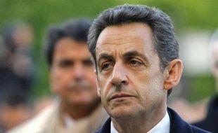 Nicolas Sarkozy, le 24 avril 2012, à Paris, lors de la cérémonie du 97e anniversaire du génocide arménien.
