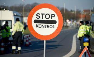 La police danoise a érigé un poste de contrôle aux frontières à Krusa le 5 janvier 2015