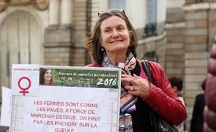 Gabrielle a quitté le travail pour participer au rassemblement #7novembre16h34 à Rennes.