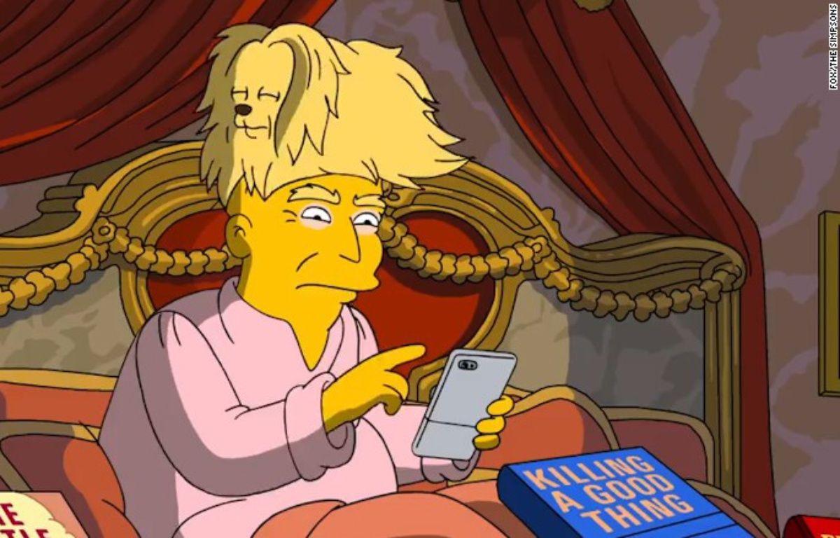 Les cheveux de Trump, moqués par les Simpsons – capture