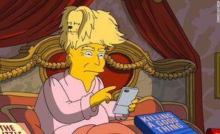 Les cheveux de Trump, moqués par les Simpsons