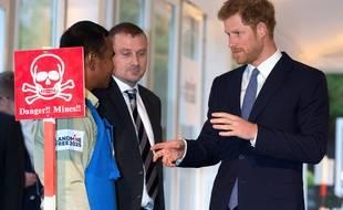 Le prince Harry lors de la réception organisée au palais de Kensington pour le Landmine Free 2025