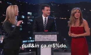 Lisa Kudrow et Jennifer Aniston chez Jimmy Kimmel