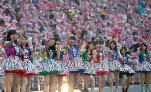 Des membres du groupe de J-Pop AKB48 à Tokyo, le 7 juin 2014.