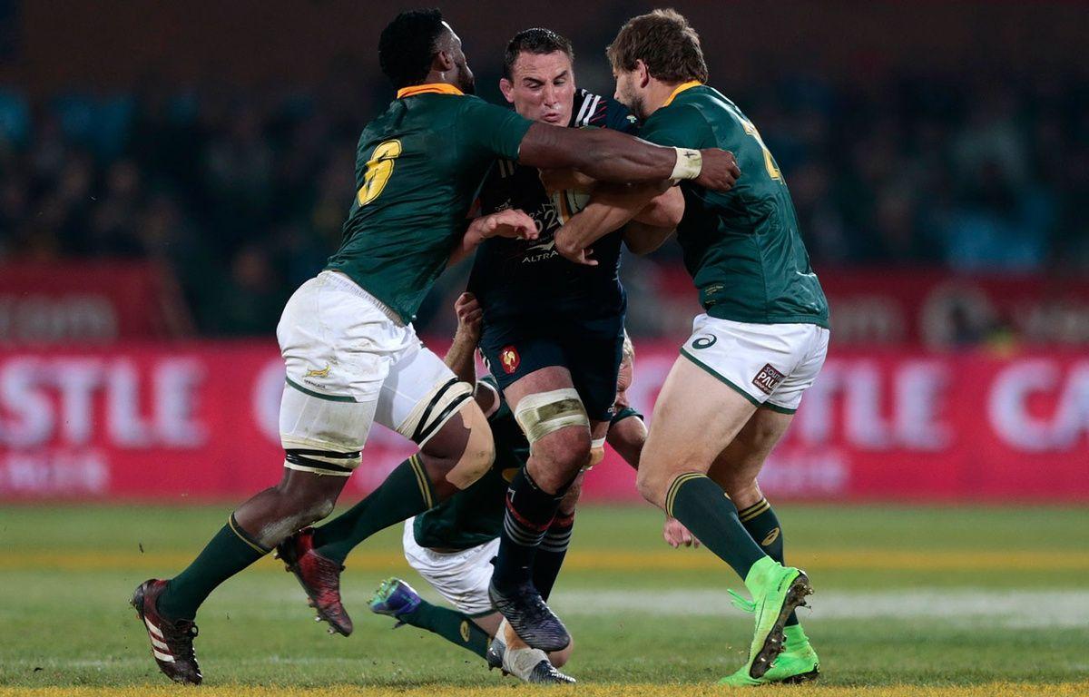 Louis Picamoles face à l'Afrique du Sud – GIANLUIGI GUERCIA / AFP