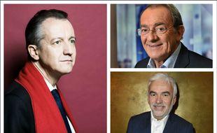 Christophe Barbier, Jean-Pierre Pernaut et Pascal Praud. (montage)