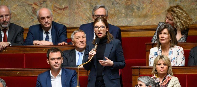 Aurore Bergé à l'Assemblée nationale le 7 mai 2019.