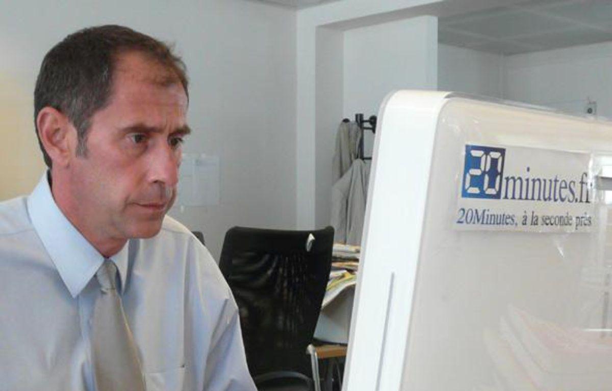 Richard Descoings dans les locaux de 20minutes.fr – dr
