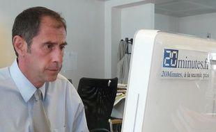 Richard Descoings dans les locaux de 20minutes.fr