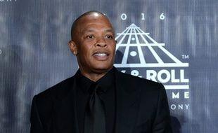 Dr. Dre lors d'une cérémonie au Rock And Roll Hall Of Fame en avril 2016