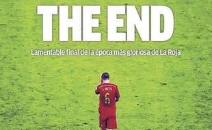 La Une du journal Marca du 19 juin 2014, après l'élimination au premier tour de la Coupe du monde de l'Espagne.
