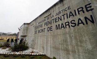 Entrée du centre pénitentiaire de Mont-de-Marsan, le 26 février 2015.