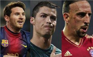 Messi, Cristiano Ronaldo, Ribery, prétendants au Ballon d'Or 2013