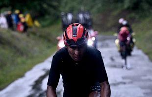 Le Colombien Nairo Quintana lors de la 9e étape du Tour de France entre Clauses et Tignes, le 04 juillet 2021.
