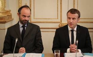 Edouard Philippe et Emmanuel Macron à l'Elysée le 30 octobre 2017.