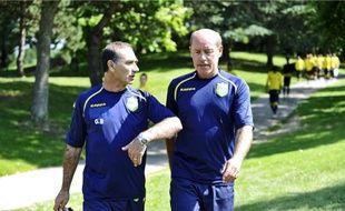 Le chantier pour l'entraîneur Gentili (à gauche) et son nouvel adjoint Anziani est grand.