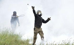 Illustration des affrontements à Notre-Dame des Landes.