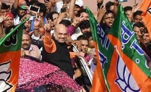Le Bharatiya Janata Party est en tête des résultats provisoires aux législatives en Inde, ce 23 mai 2019.