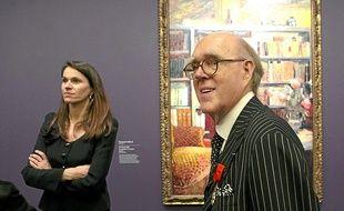 Aurélie Filippetti et Spencer Hays, tout juste fait Officier de la Légion d'honneur, au musée d'Orsay.