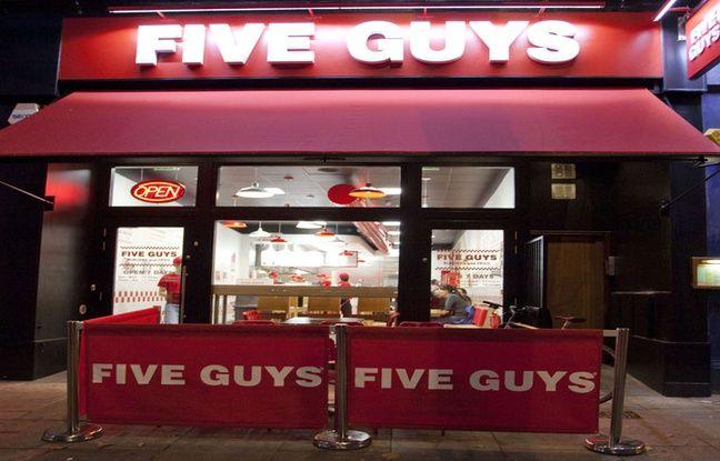 paris l 39 ouverture du premier five guys en france affole les amateurs de burgers. Black Bedroom Furniture Sets. Home Design Ideas
