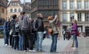 groupe de touristes. Le 13 04 2010