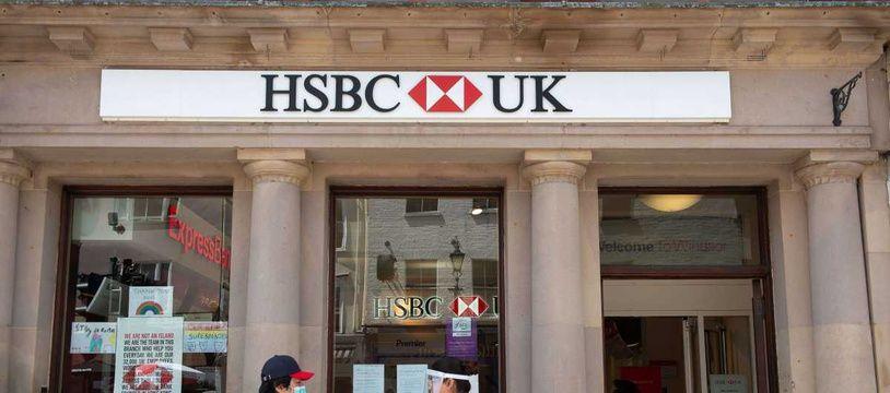 Illustration d'une agence HSBC.