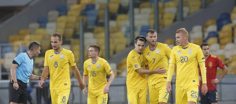 L'Ukraine a battu l'Espagne en Ligue des nations, le 13 octobre 2020.