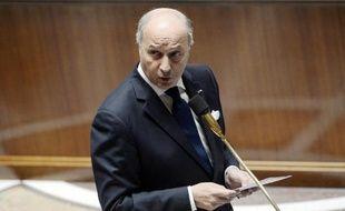 Le chef de la diplomatie française Laurent Fabius, le 6 mai 2014 à l'Assemblée nationale à Paris