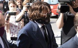 L'acteur Johnny Depp lors de son arrivée au tribunal à Londres