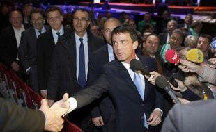 Le Premier ministre Manuel Valls, au congrès de la FNSEA, à Saint-Etienne, le 26 mars 2015