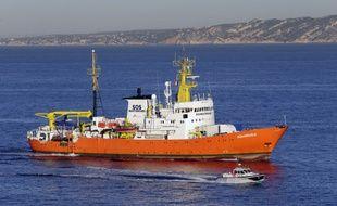 """Le bateau """"Aquarius"""" était celui de SOS Méditerranée jusque là. (archives)"""