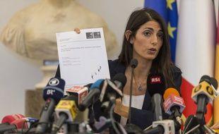 La maire de Rome Virginia Raggi en conférence de presse le 21 septembre 2016.