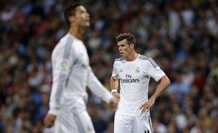 Gareth Bale avec Cristiano Ronaldo lors d'un match entre le Real Madrid et l'Atletico Madrid en septembre 2013.