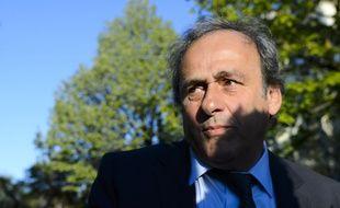 Michel Platini à son arrivée pour son audience devant le TAS, le 29 avril 2016 à Lausanne.