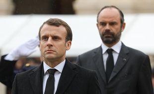 Emmanuel Macron et le Premier ministre, Edouard Philippe.