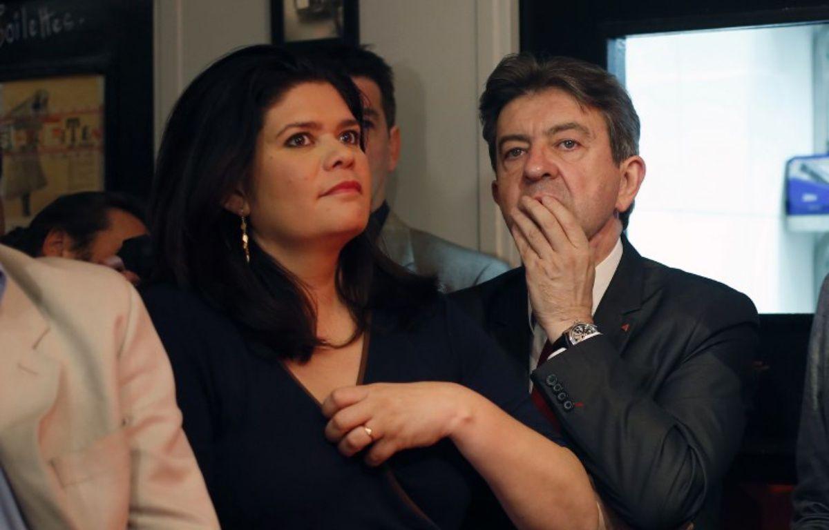 Raquel Garrido et Jean-Luc Mélenchon – THOMAS SAMSON / AFP