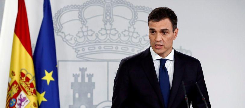 Le nouveau Premier ministre espagnol Pedro Sanchez annonce la composition de son gouvernement, à Madrid le 6 juin 2018.