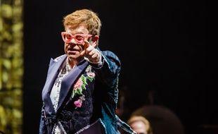 Elton John lors d'un concert à Vérone (Italie) en mai 2019.