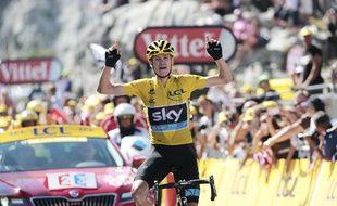 Chris Froome a remporté la 10e étape du Tour de France, la première en haute montagne, le 14 juillet 2015 à La Pierre-Saint-Martin.