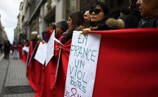 Manifestation à Marseille le 25 novembre 2016 lors de la journée internationale des femmes