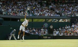Novak Djokovic a joué dans la chaleur du 1er juillet 2015.