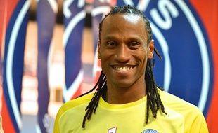 Le gardien du PSG handball, Patrice Annonay, lors de d'un match contre Chambéry le 18 septembre 2013.