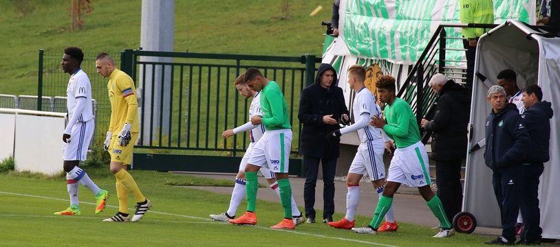 Un précédent derby U19 entre l'ASSE et l'OL (0-1), ici à L'Etrat en novembre 2016.