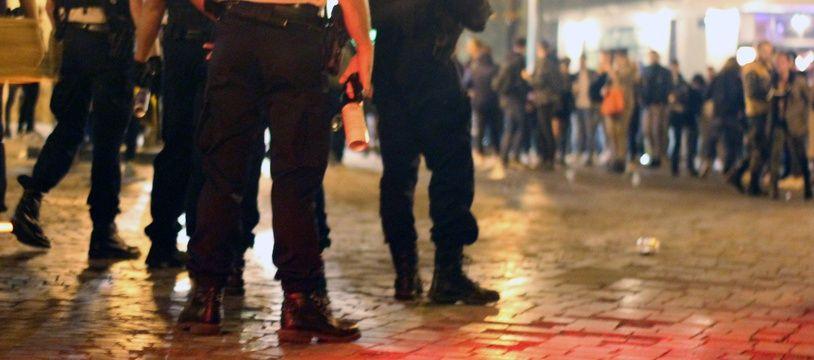 Illustration d'une intervention policière à Rennes.