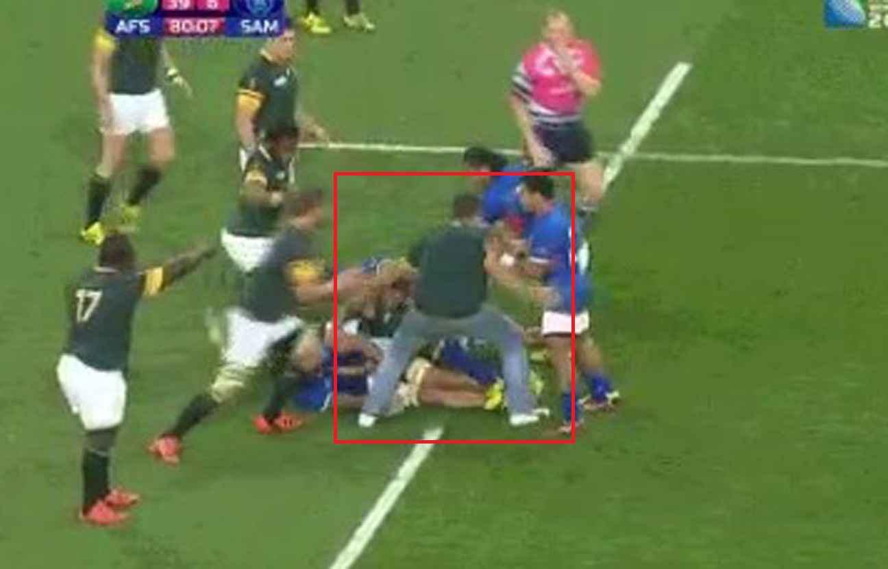 Video afrique du sud samoa un supporter des springboks s - Coupe du monde rugby afrique du sud ...