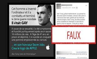 Le logo d'Apple n'est pas un hommage au mathématicien britannique Alan Turing.